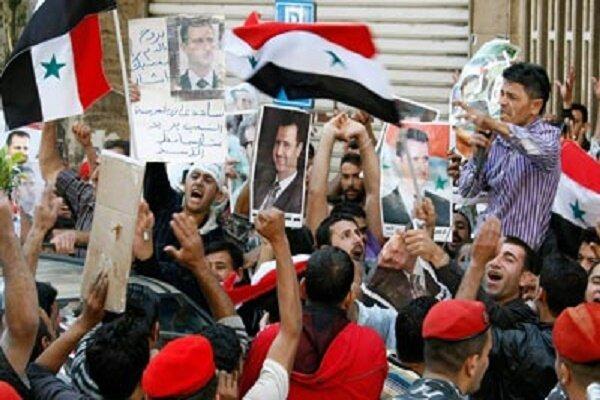 مردم سوریه در حمایت از بشار اسد تظاهرات کردند